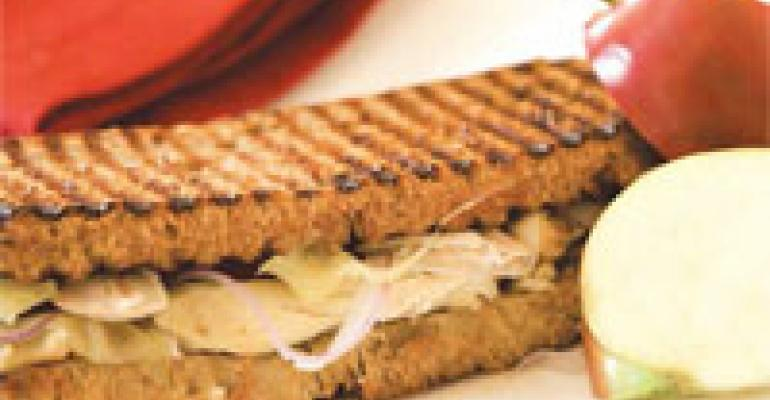 Savory Chicken, Apple & White Cheddar Sandwich