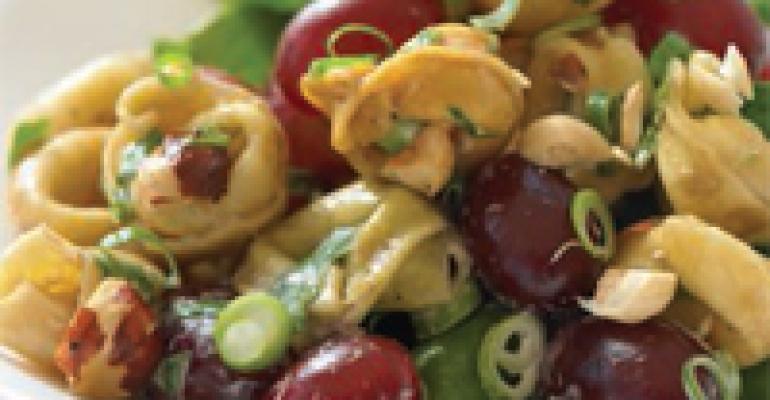 Grape and Hazelnut Tortellini