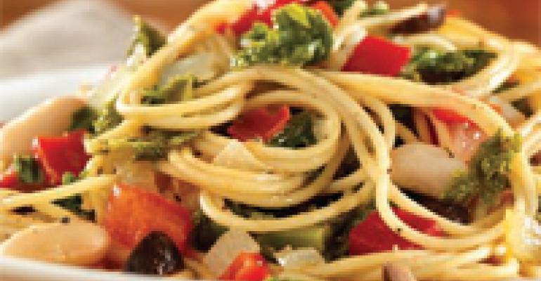 Multi-Grain Tuscan-Style Spaghetti with Kale and Canellinis