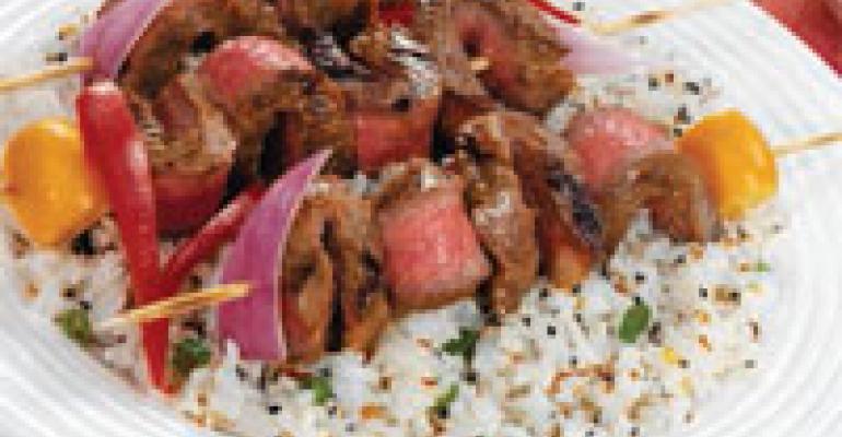 Thai Steak Sticks with Peanut Dipping Sauce