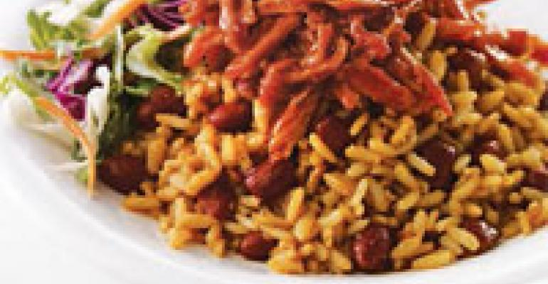 Honey BBQ Rice Bowl with Slaw Salad