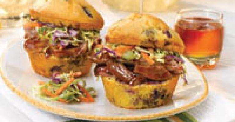 Tupelo Honey Pork Sliders and Jalapeno-Honey Mustard Slaw