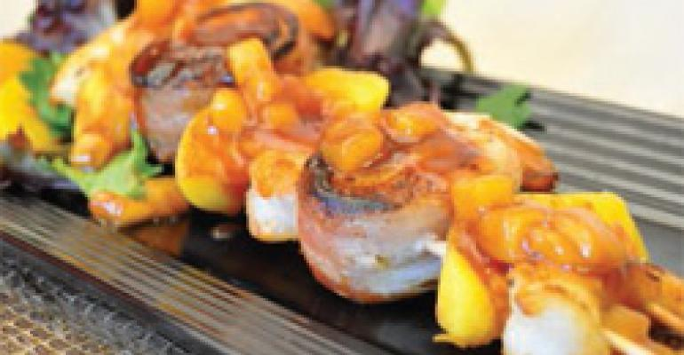 Southern Fruity Shrimp and Scallop Kabobs