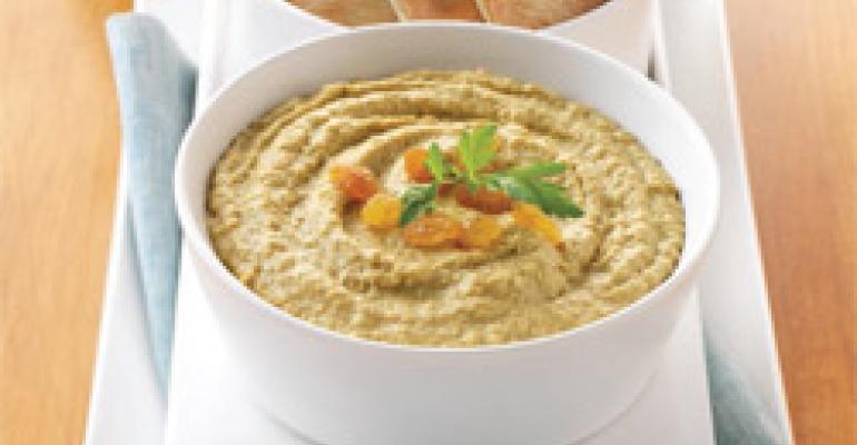 Tunisian-spiced Raisin Hummus