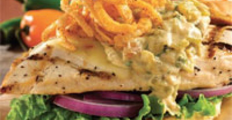 Southwest Chicken Sandwich with Green Chile Mustard Sauce