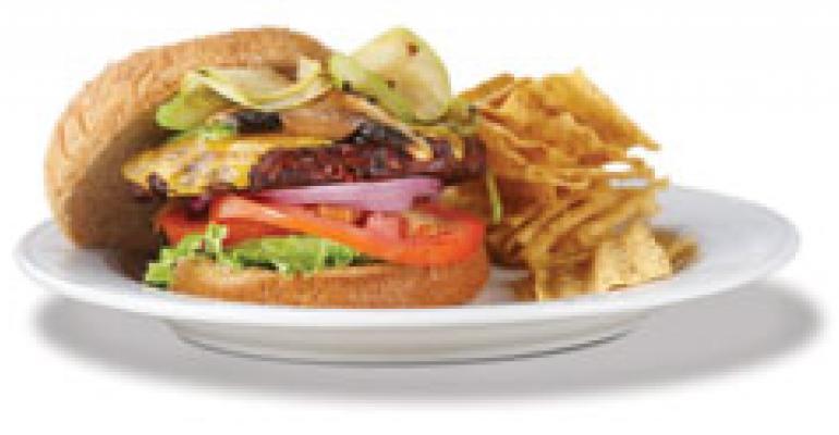Mediterranean Black Bean Burger with Mushroom-Apple Slaw