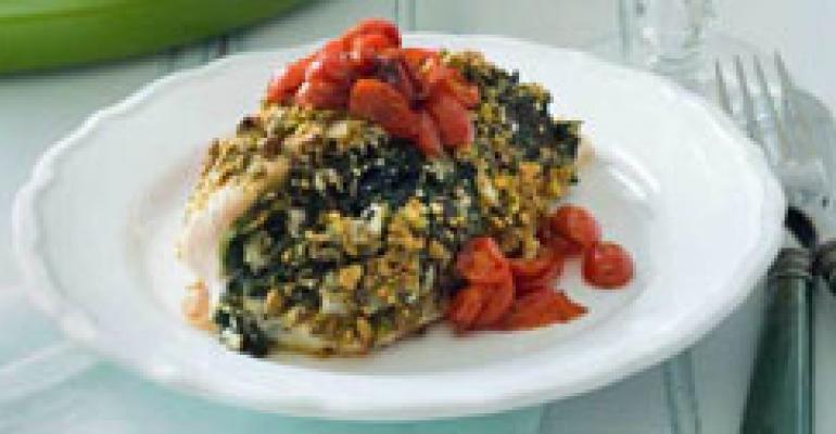 Pistachio-Crusted Greek Chicken