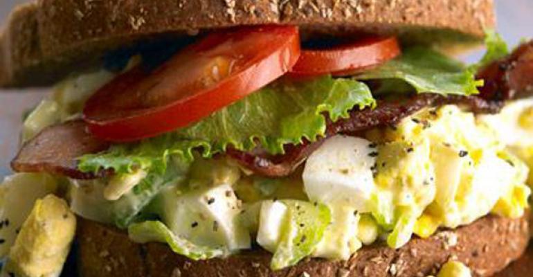 Avocado Bacon Egg Salad Sandwich on NineGrain Bread
