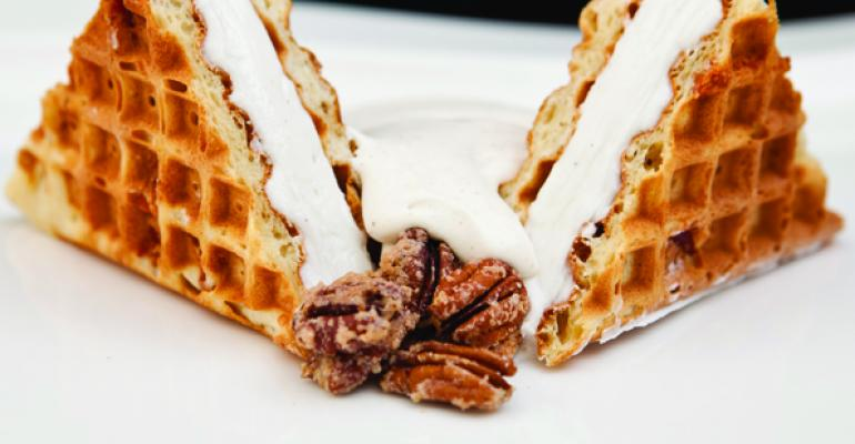 Bacon Waffle Ice Cream Sandwich with Maple Cream