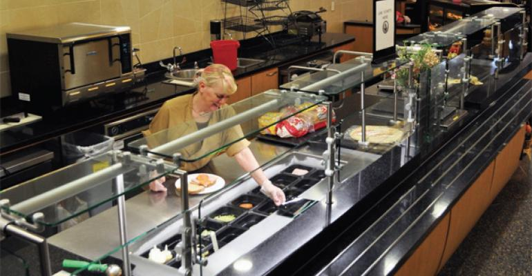 As a high volume operation an efficient deli station takes into account demand patterns menu preferences and expected traffic flows Photo from Concordia College