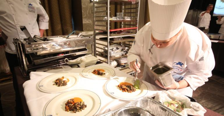 Laura Marie Strunk catering chef University of Notre Dame practiced her recipe no less than ten times before heading to the competition