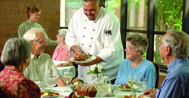 Senior dining photo