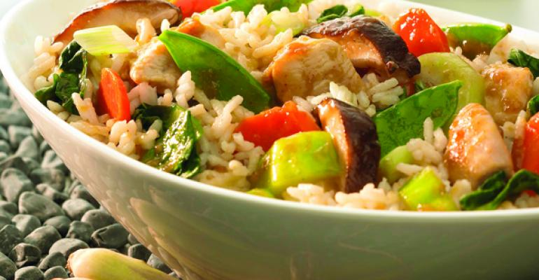 Stir Fry Chicken with Asian Vegetables  Rice