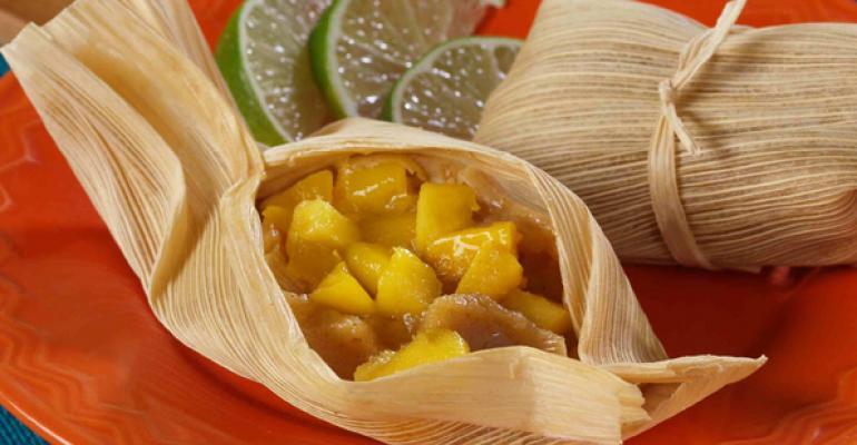 Sweet Mango Dessert Tamales