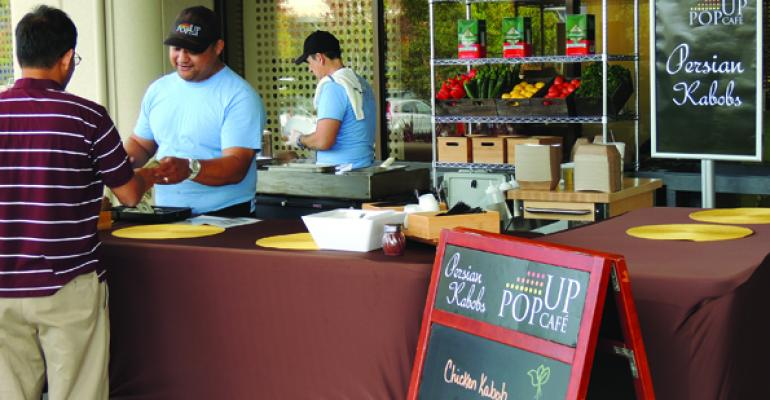 Pop-Up Cafés Help Break Routine
