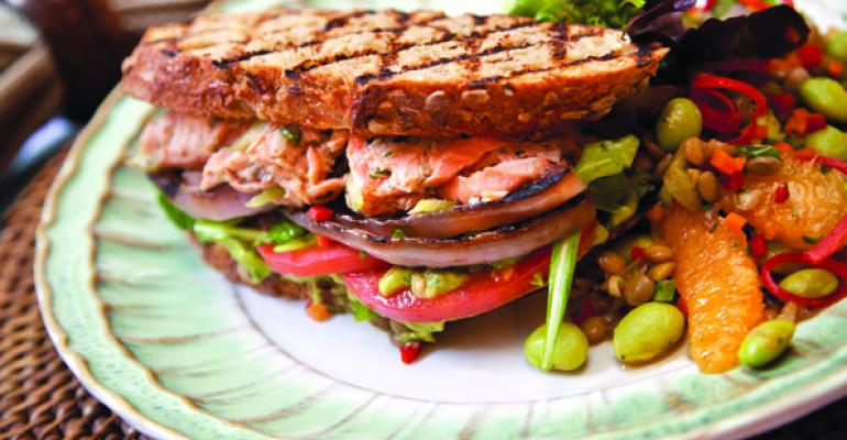 The Super Natural Salmon Sandwich