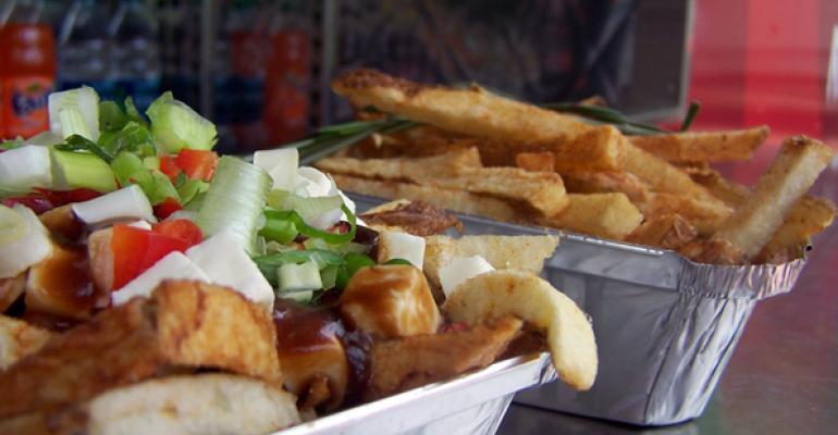 Poutine and fries