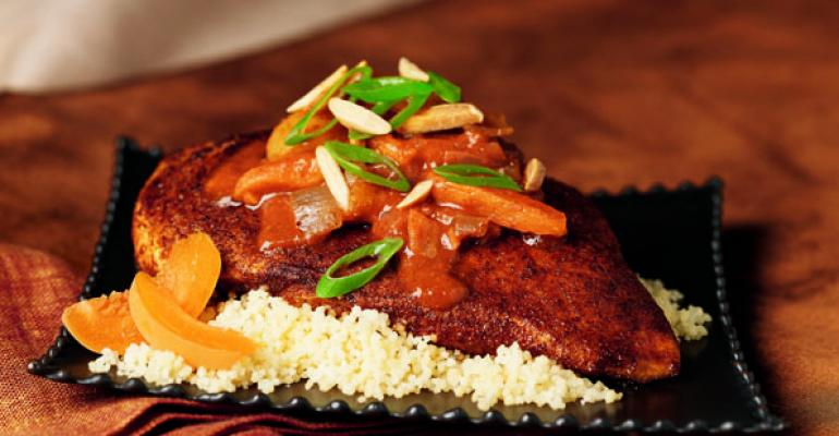 Spicy Moroccan Chicken with Apricots