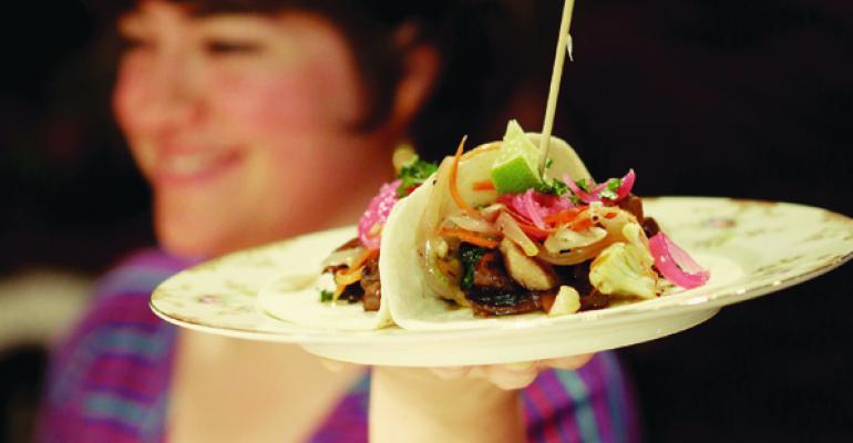 Market Mushroom Taco