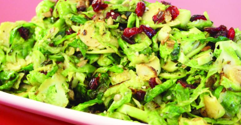 Caramelized Brussels Sprouts and Dried Cranberry Salad