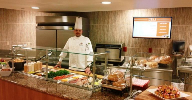 The new toorder deli station at the renovated retail cafe at Washington PA Hospital