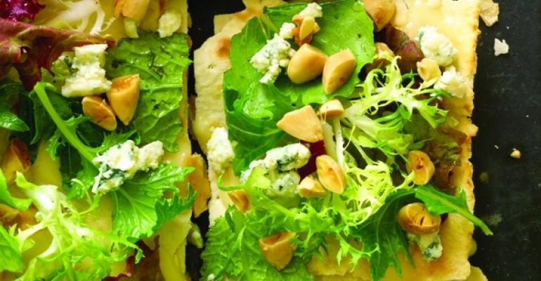 Lavash with a Salad of Greens