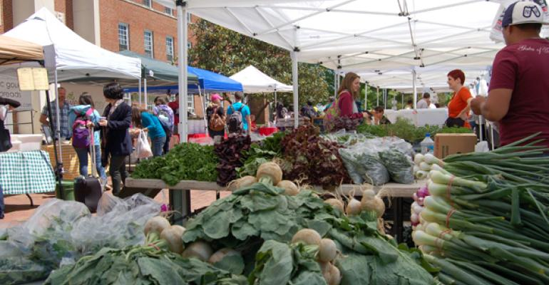 The University of Maryland farmers market