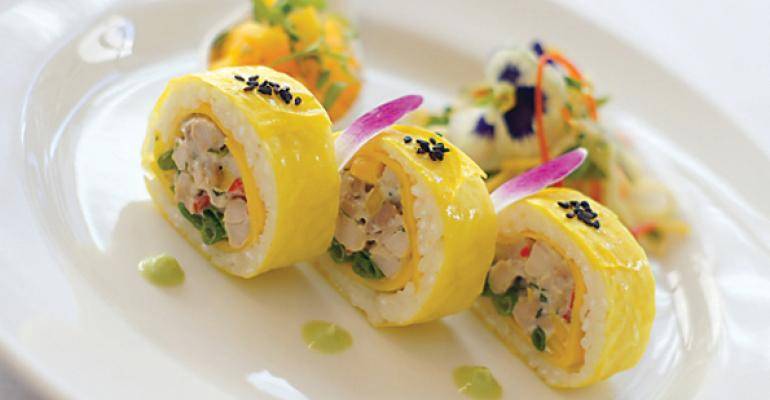 Soy Paper Tropical Rice Roll NYULangones winning entry in a recent AHF culinary competition