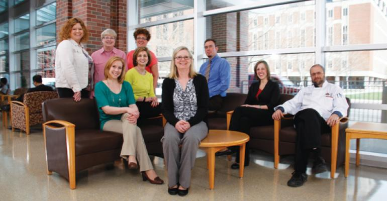 THE MANAGEMENT TEAM Back row Julie Meddles Pat McGinty  Laura Meadows Mike Folino Jenny Geruntino and Drew Patterson Second row Erica Hamilton Mary Angela Miller and Julie Jones