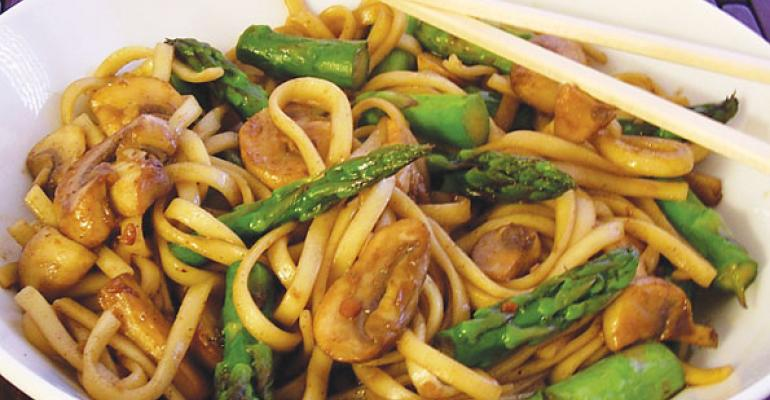 Five Spice Mushrooms with Udon Noodles