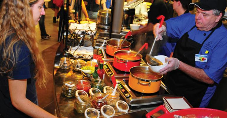 The Global Noodles concept at the University of Buffalo has been one of the most popular additions to the new Crossroads Culinary Center