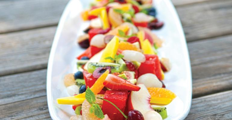 At Stanford Hospitality exotic fruits like lychees and papaya excite the palate