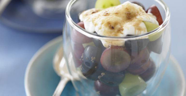 Grapes with Brown Sugar and Sour Cream