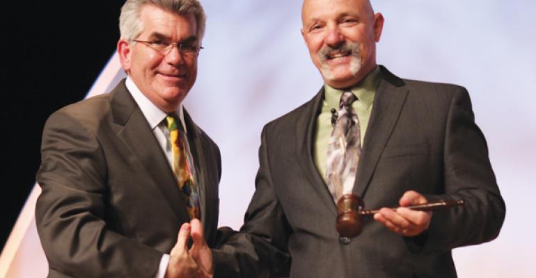 201213 President Tim Dietzler passes the gavel to 201314 President Mark Loparc