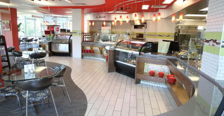 The Niche a new dining commons at UGA is a sleek space with a grill a pizza oven gourmet prepared meals gelato and more