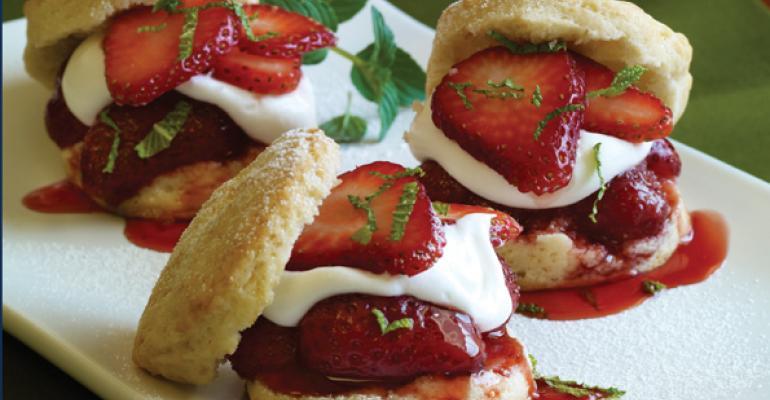 Strawberry shortcake sliders