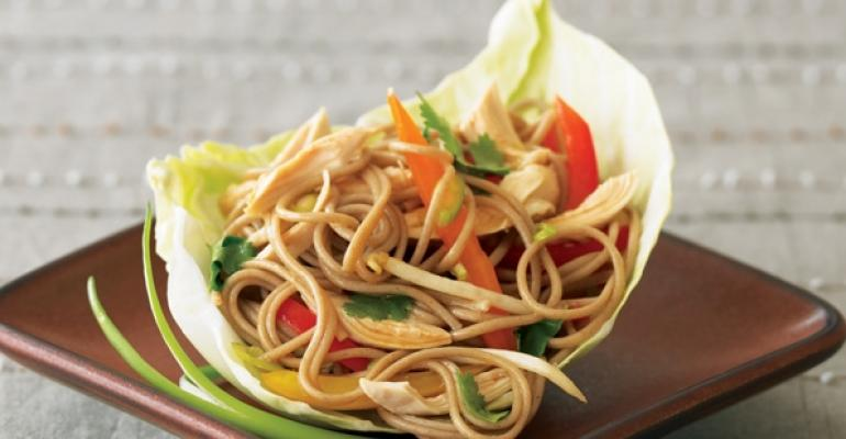 Southeast Asianinspired dishes like Chicken Soba Salad feature rice vinegar sesame oil cilantro and mung bean sprouts
