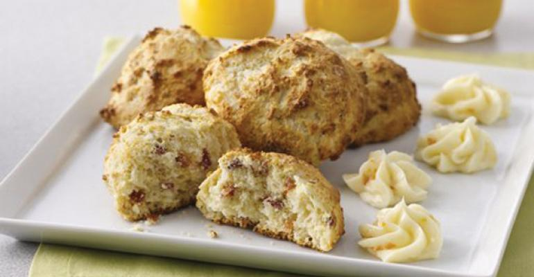 Bacon Biscuits with Orange-Honey Butter