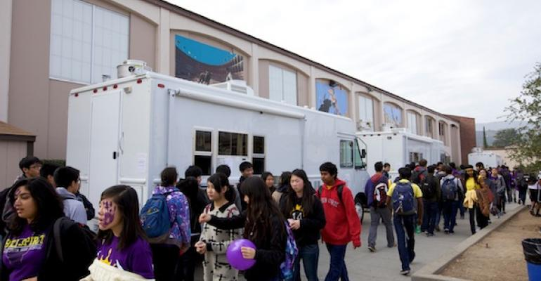 The district39s own food trucks offer meals while cafeterias undergo renovations in the Fremont Union HSD