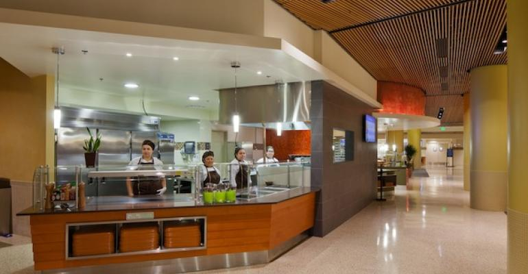 The Freshly Bowled station features onebowl meal choices It is one of seven concepts in UCLA39s new Bruin Plate dining hall