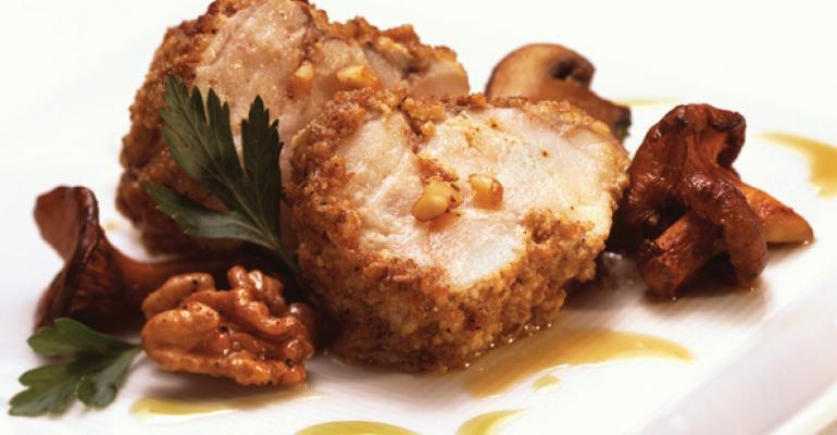 Walnut, Black Pepper and Cumin Crusted Monkfish