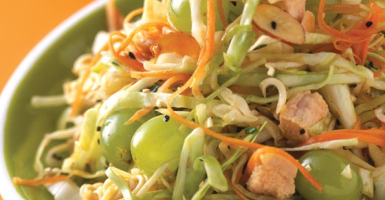 Pacific Rim Ramen Noodle Salad with Grapes