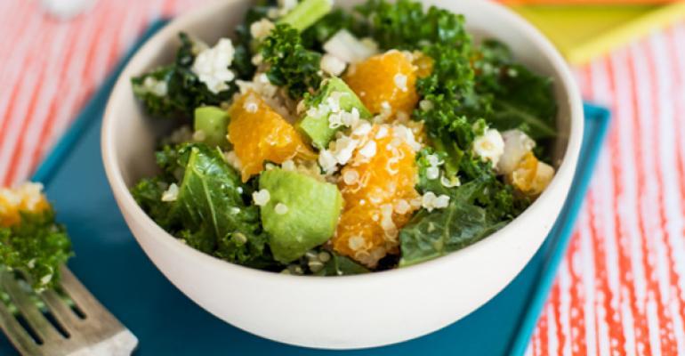 Quinoa, Kale, Feta, Avocado and Navel Orange Salad