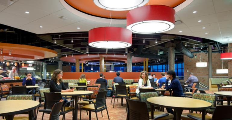 Binghamton University39s University Marketplace food court has boosted sales since its recent opening