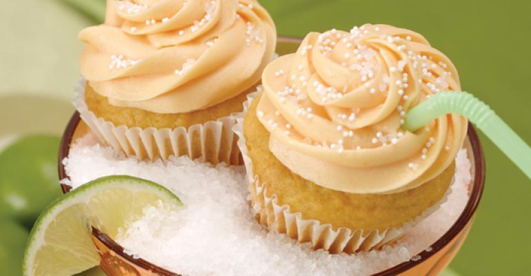Honey Mango Margarita Cupcakes with Sea Salt