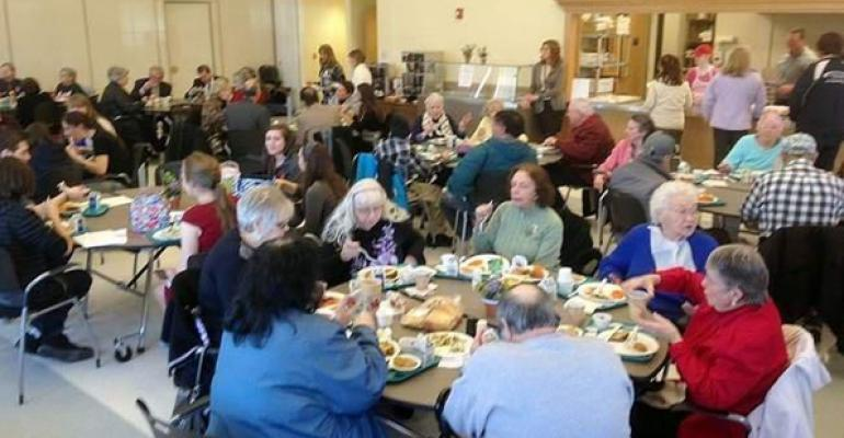Seniors enjoy lunches provided by Plymouth Schools