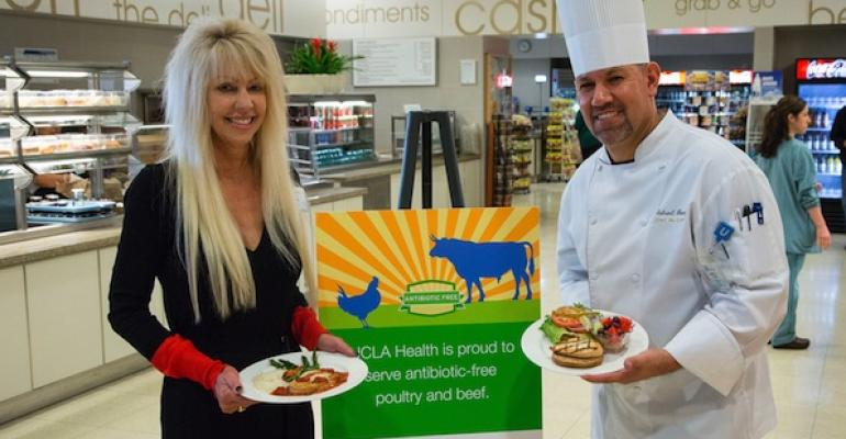 UCLA Health Nutrition Services Director Patti Oliver and Executive Chef Gabriel Gomez