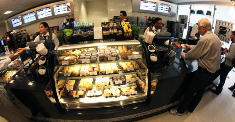 Massachusetts General Hospitalrsquos Coffee Central services more than 3000 customers a day and does approximately 10000 in beverage baked goods and prepared foods sales 20 percent more than before the retail outlet was overhauled Photo by John Lawn