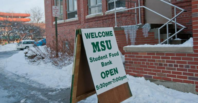 Five years ago there were five food pantries on college campuses Now there are 121 according to Michigan State which has been operating its MSU Student Food Bank since 1993