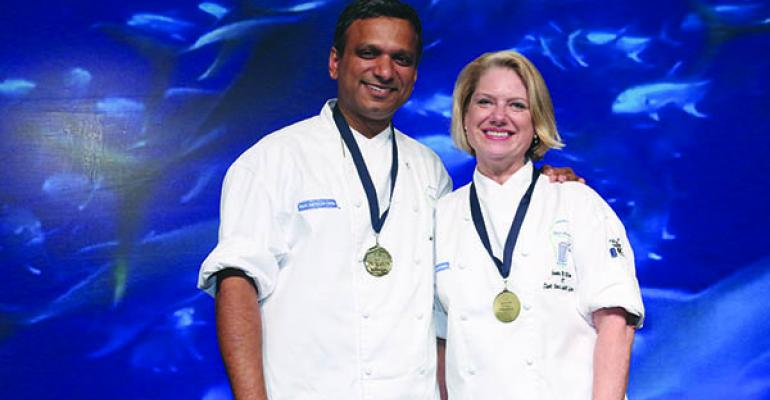Aatul Jain and Joanne  McMillian make quite a team in competitions and at Saint Clare a threehospital and 650bed system in Denville NJ